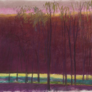 Tall Trees in a Dark Red World, pastel, 22 x 30 inches, $30,000