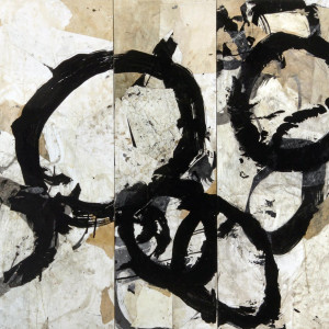 sumi ink and paper on board 38 x 42 inches SOLD
