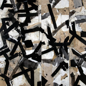 sumi ink and paper on board 80 x 75 inches $8,000