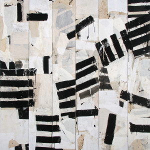 sumi ink and paper on board 79 x 78 inches SOLD
