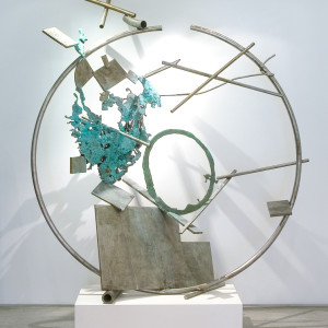 stainless steel and bronze 70.5 x 63 x 30 inches $40,000