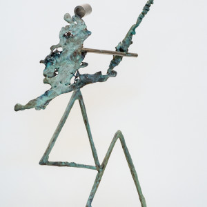 bronze and stainless steel 26 x 17 x 13 inches $4,000