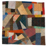 Abstractions 1 quilted fabric 14 x 14.5 inches $1,200