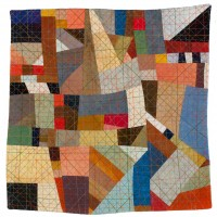 Abstractions 3quilted fabric 13.5 x 13.5 inches $1,200
