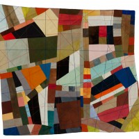 Abstractions 5 quilted fabric 15 x 14.5 inches $1,200