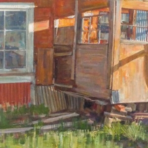 oil on canvas 18 x 56 inches $2,750