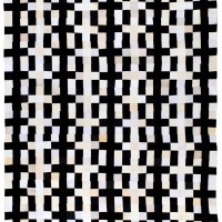 Black & White Linear 9 Patch quilted fabric 120 x 108 inches $9,800