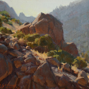 Canyon Rocks, oil on canvas board, 8 x 10 inches, $1,200