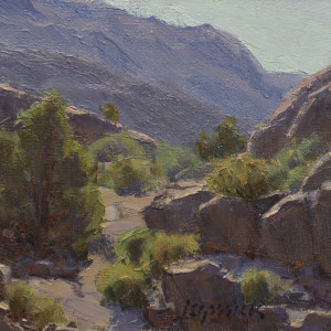 Morning on the Comstock Hills, oil on panel, 6 x 8 inches, $1,000