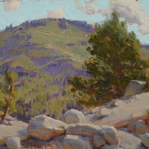 Morning on the Rocks, oil on canvas board, 8 x 10 inches, $1,200