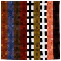 Linear 9 Patch quilted fabric 108 x 108 inches $9,800