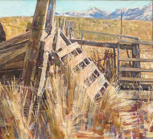Nevada Corner, oil on canvas, 20 x 72 inches, SOLD