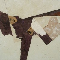 mixed media on panel 30 x 30 inches