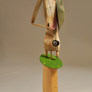 wood/mixed media 34 x 12 x 13 inches
