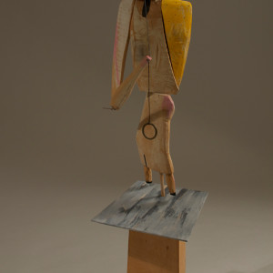 wood/mixed media 34 x 12 x 10 inches