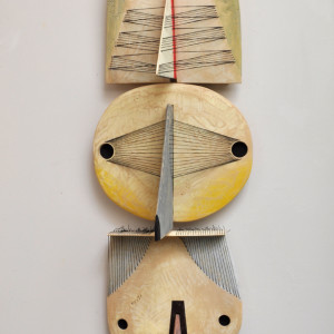 wood/mixed media 43 x 14 x 11 inches