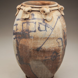 wood fired stoneware 12 x 7.5 inches