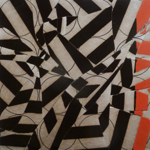 broken and glazed porcelain tile 17.5 x 17.5 inches