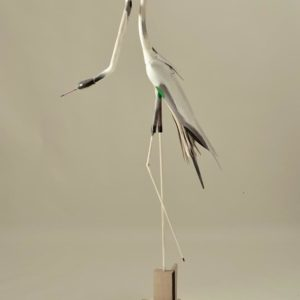 Bird #76, wood, paint, and mixed media, 66.5 x 14 x 30 inches, $8,500