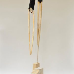 Diver #3, wood and paint, 62.5 x 12 x 12 inches, $7,500
