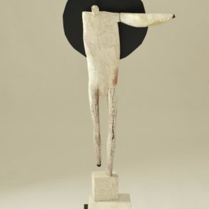 Eclipse #1, wood and paint, 42 x 18.5 x 11.5 inches, $5,500