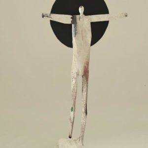 Eclipse #3, wood and paint, 55 x 25 x 15.5 inches, $7,500