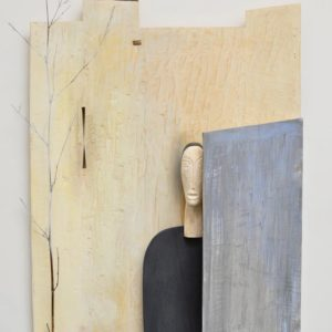Longing Series #1, wood and paint, 46 x 33 x 5.75 inches, $9,000