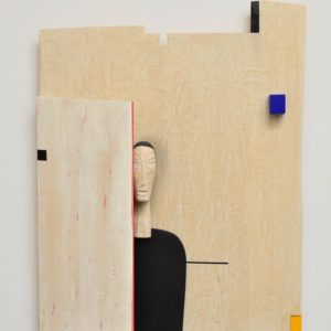 Longing Series #2, wood and paint, 43 x 30 x 7 inches, $9,000