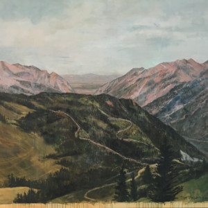 Little Cottonwood, oil on canvas, 72 x 80 inches