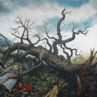 Crooked Timber, oil on linen, 78 x 92 inches, $42,000