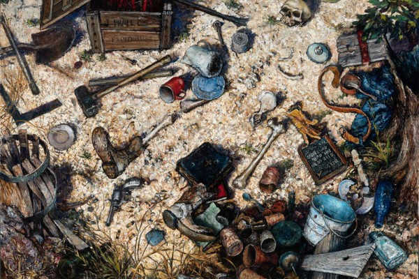 Games of Bones, oil on linen, 78 x 92 inches, $42,000
