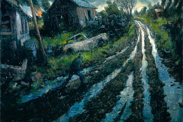 Hard Rain, oil on linen, 36 x 44 inches, $12,000