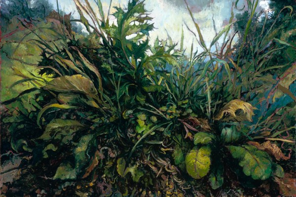My Life as a Weed, oil on linen, 18 x 22 inches, $6,000