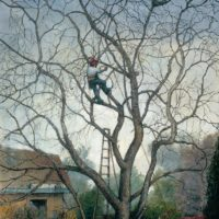 Tree Service, oil on linen, 44 x 36 inches, SOLD