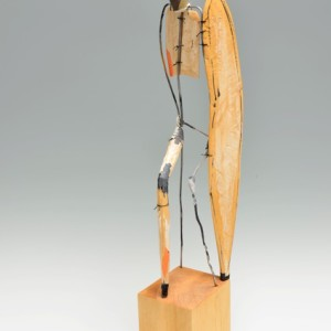 Robert Brady, Seated Figure 824, wood, paint, and wire
