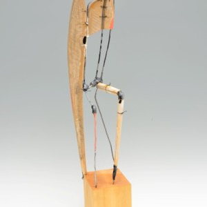 Robert Brady, Seated Figure 825, wood, paint, and wire