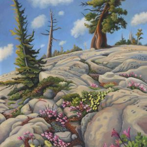 Phyllis Shafer, Mountain Pride, oil on linen, mounted on board, 20 x 16 inches, SOLD