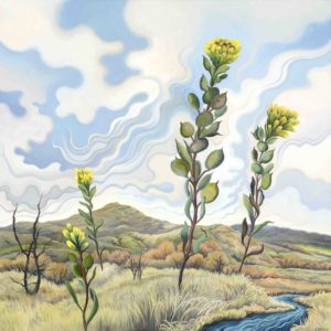 Phyllis Shafer, The Landscape Listens, oil on linen, 16 x 16 inches, SOLD
