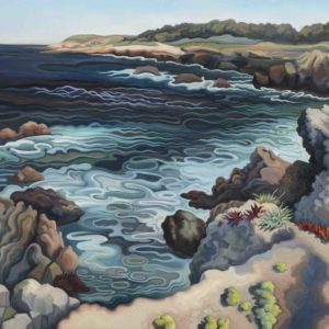 Phyllis Shafer, The Roiling Sea, oil on linen, 18 x 20 inches, SOLD