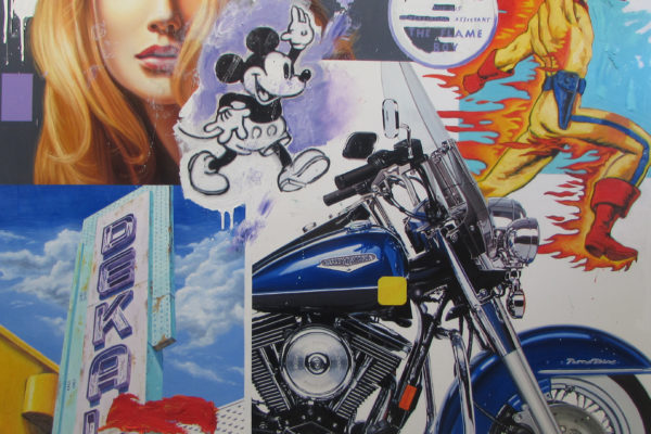"""Road King, oil on canvas, 72"""" x 72"""", $20,000"""