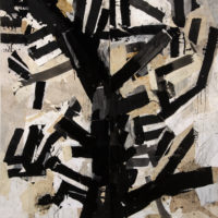 Jerry Iverson, Darwin's Tree 4, sumi ink and paper on board, 79 x 72 inches, $8,000