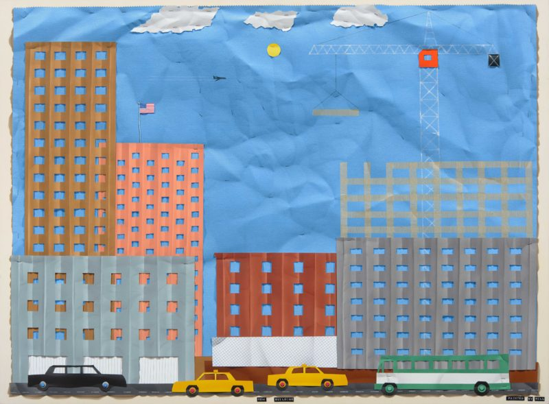 Bill Braun, New Building, acrylic on canvas, 36 x 48 inches, $6,300
