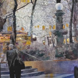 Salminen, John_42nd and Sixth_watercolor_36 x 26 inches