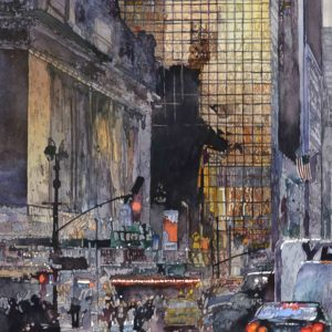 Salminen, John_Grand Central and 42nd Street_watercolor_29 x 21.25 inches